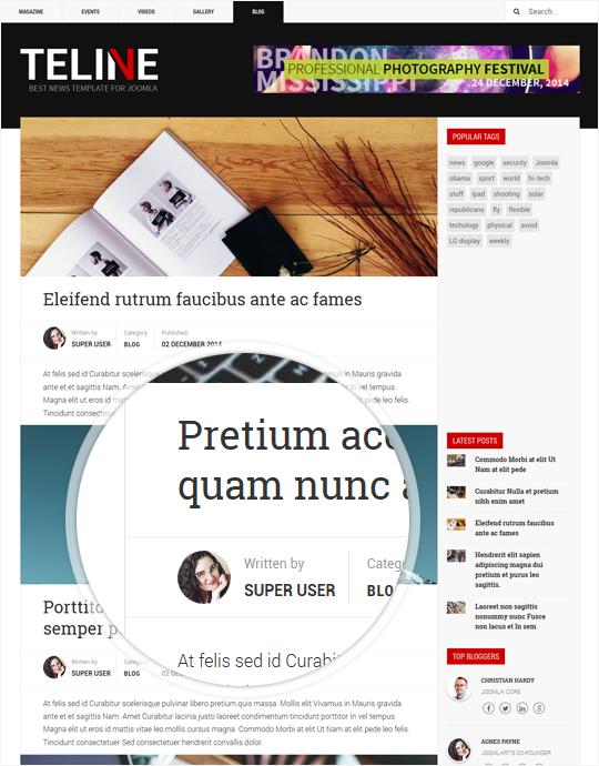 Responsive Joomla template for news website - JA Teline V