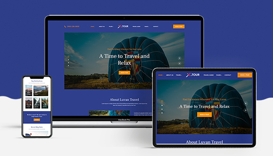 responsive travel booking Joomla template