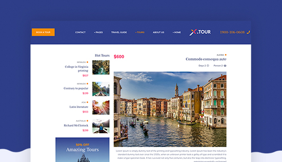 righ to left Joomla travel template