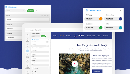 travel booking Joomla template built with t4 framework