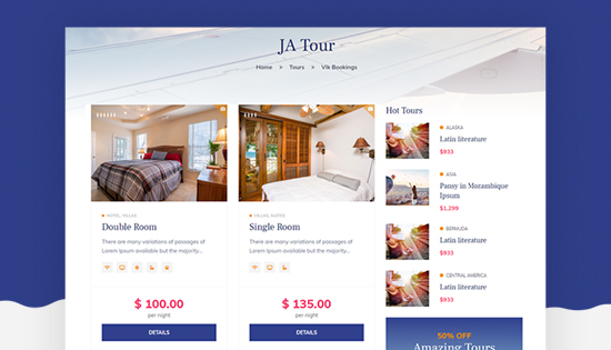 vik booking joomla reservations booking template