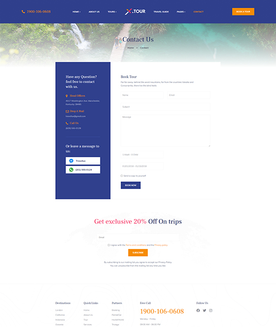 Joomla tour booking template - JA Tour