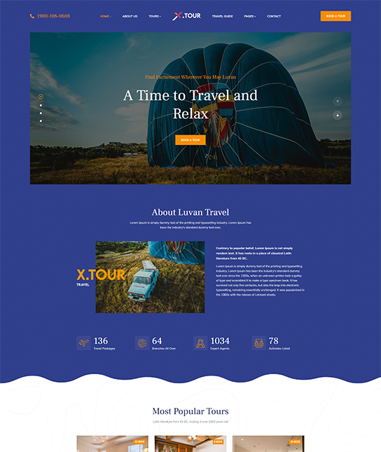 Joomla travel template - JA Tour