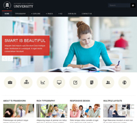JA University - Joomla Template for schools & universities
