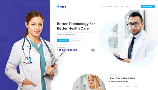 responsive Joomla template for medical