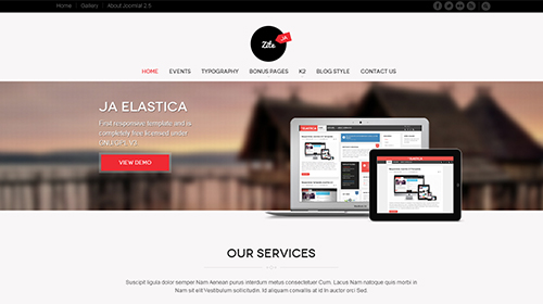 JA Zite - Amazing Responsive Joomla 3  template for business
