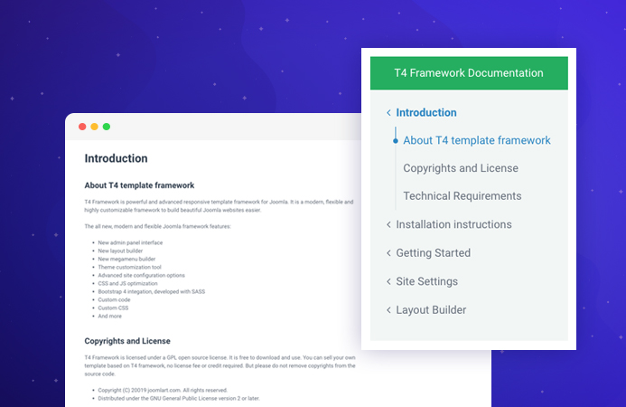 T4 Joomla template framework documentation