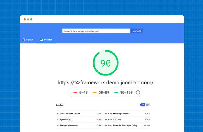 T4 Joomla template framework performance