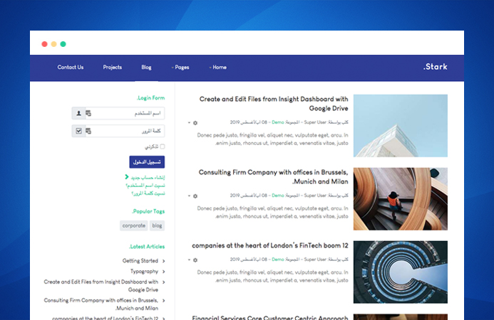 T4 Joomla template framework supports right to left language layout