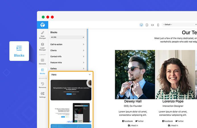 drag and drop Joomla page builder content block