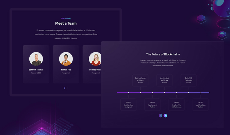 joomla page builder template for blockchain