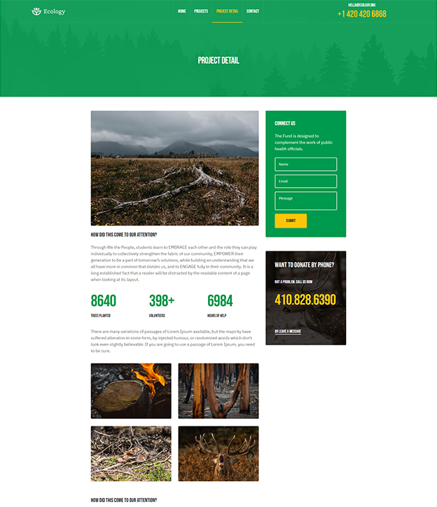 Joomla page builder for donation