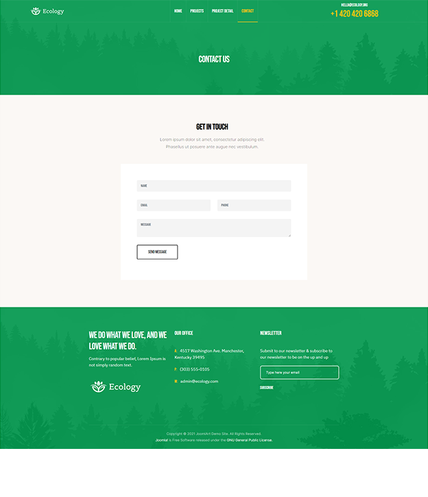 Joomla page builder for fundraising