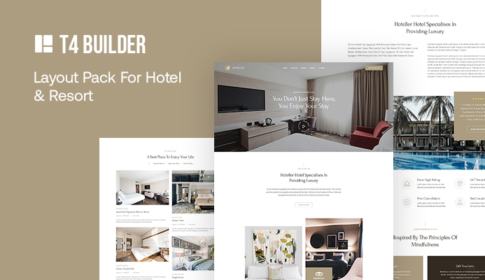 [Release] T4 Page Builder: Introducing the best luxury Hotel website bundle