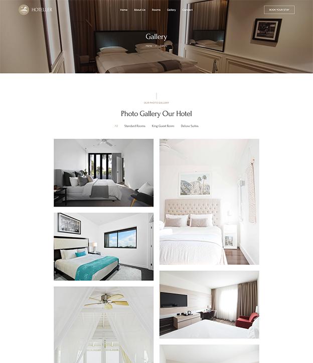 Hotel gallery Joomla page builder website bundle