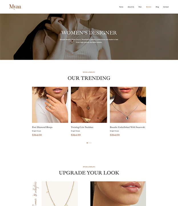 Joomla page builder for jewelry shop