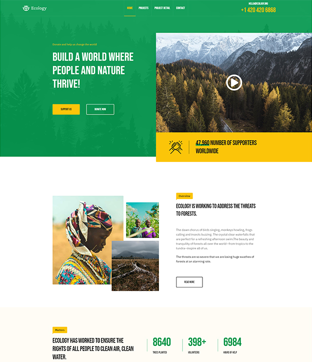 Joomla page builder for fundraising, NGO and nonprofit