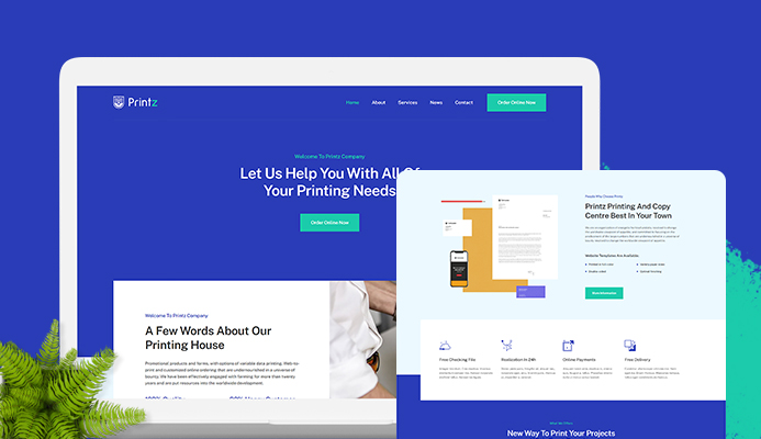 T4 Page Builder: Introducing new layout pack for Print company