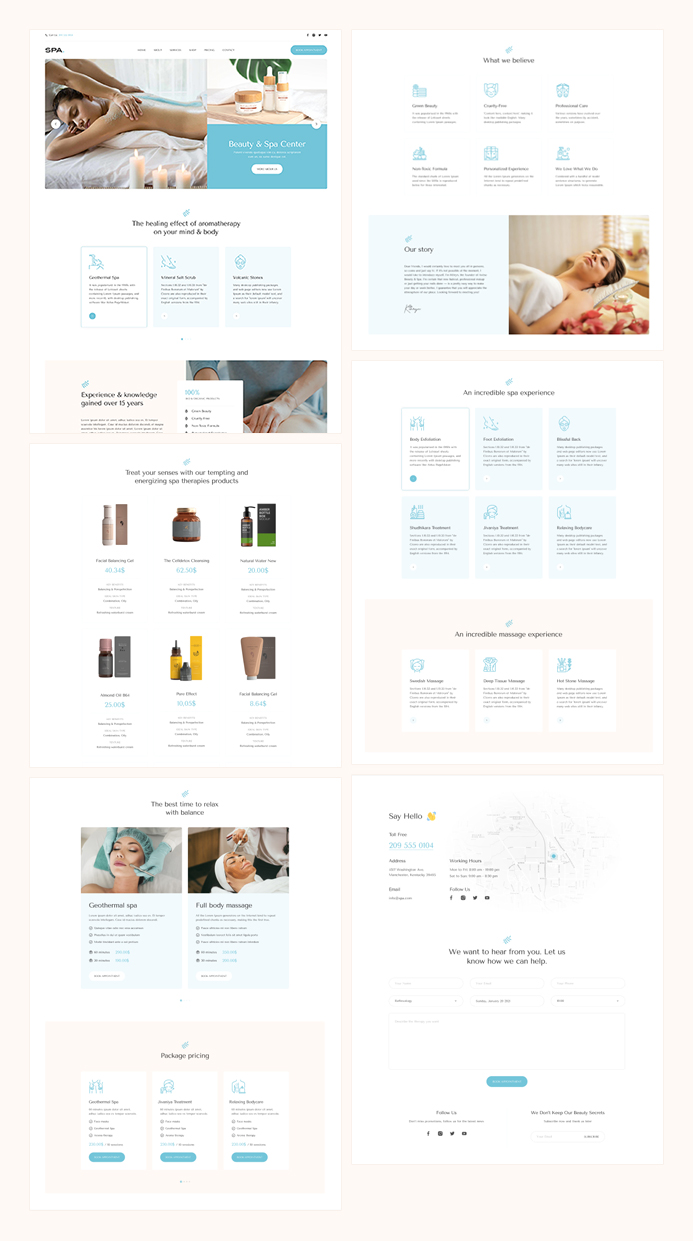 joomla page builder template for spa and beauty salon service