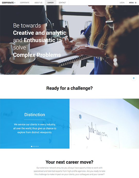 Responsive Joomla template for company website - UBER