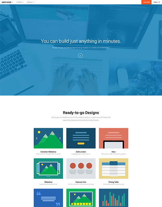 Joomla template for business website - UBER