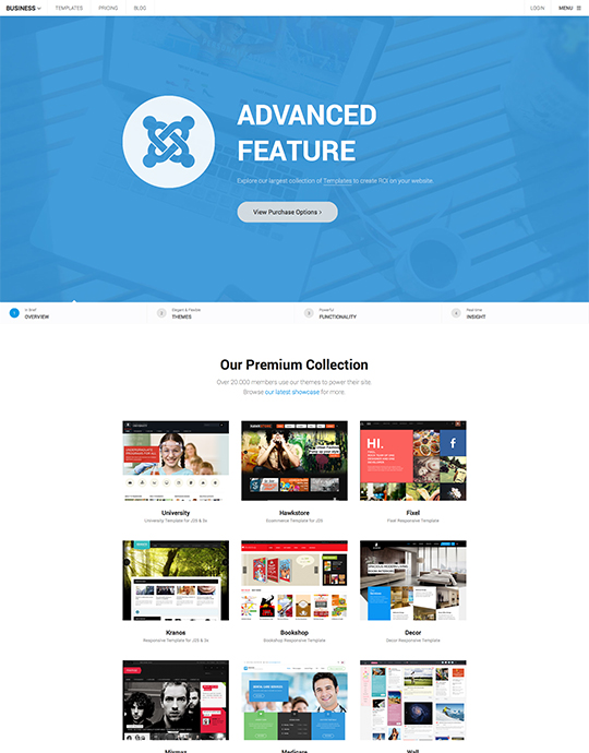 Multipurposes Joomla template - UBER