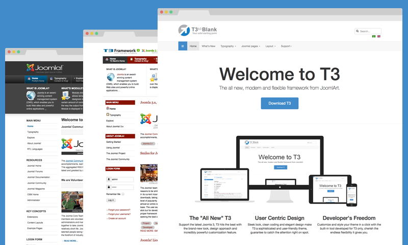 T3 Framework for Joomla & JA Purity Templates | Joomla Templates ...