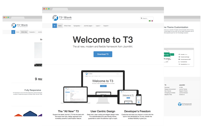 T3 framework version 3 for Joomla 2.5 and Joomla 3