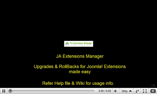JA Extension Manager