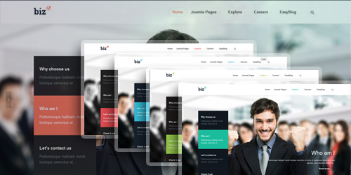 JA Biz - The responsive Joomla template offers 5 colors by default