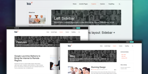 Joomla template with Multiple default layouts