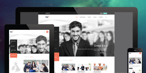 JA Biz is a Fully responsive Joomla template
