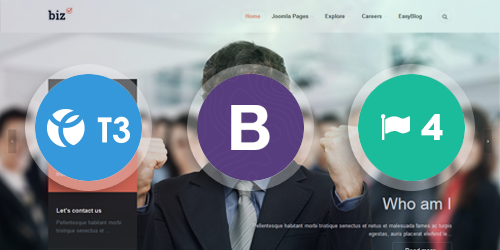 JA Biz - The responsive Joomla template Built on the latest T3 Framework compatible with Bootstrap 3