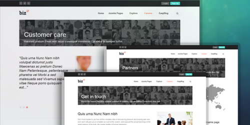 JA Biz - The responsive Joomla template offers handy typography pages
