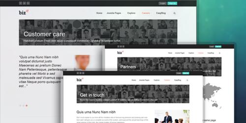 JA Biz - The responsive Joomla template offers handy typography pages