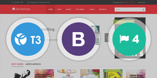 Built on the latest T3 Framework compatible with Bootstrap 3