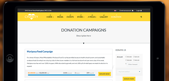 Support Joomla donation extension - JoomDonation