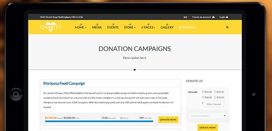 responsive joomla template for church charity nonprofits ja