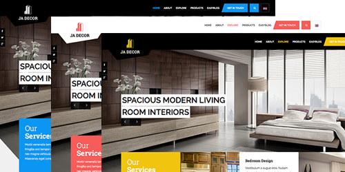 Responsive Joomla template - JA Decor and its 5 colors by default