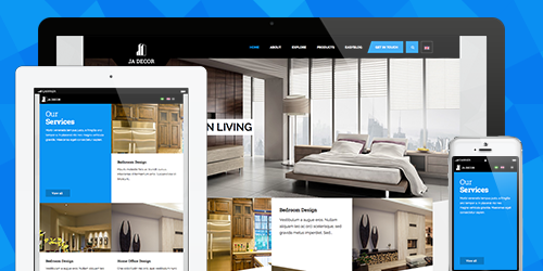 Fully Responsive Joomla template - JA Decor