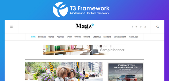 Joomla T3 Framework powerful core
