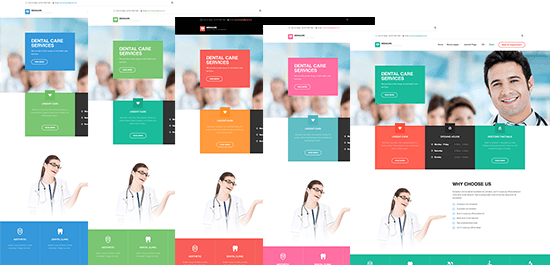 Responsive Joomla template - JA Medicare and its 5 colors by default