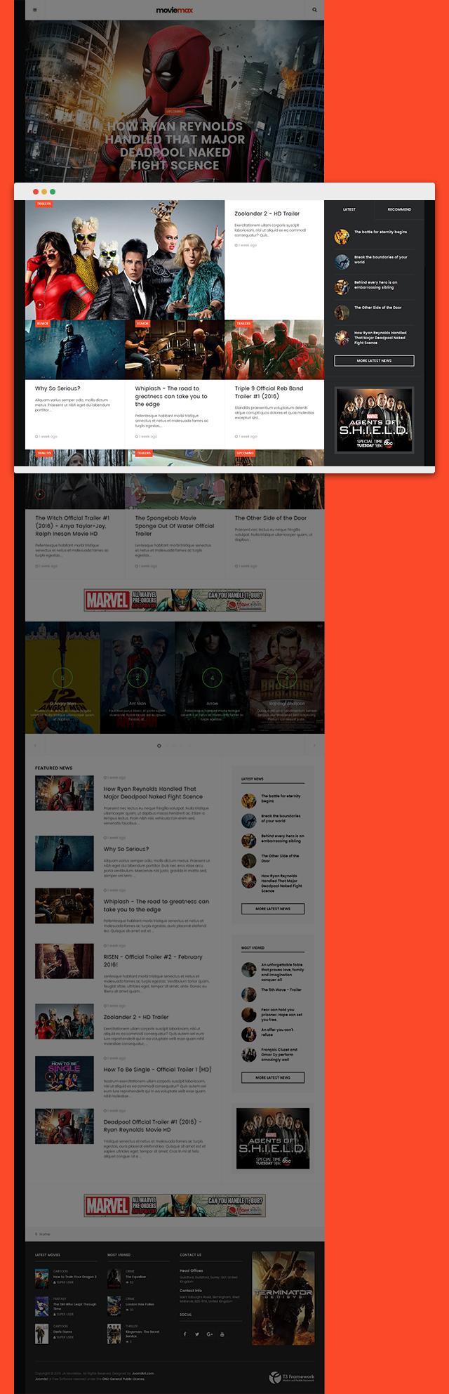 Preview] JA Moviemax – Responsive Movies Joomla template - JoomlArt
