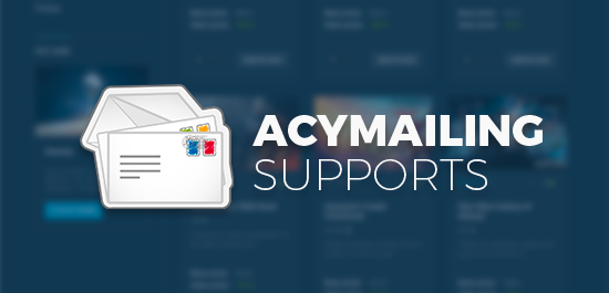 Support Acymailing - Joomla mail solution