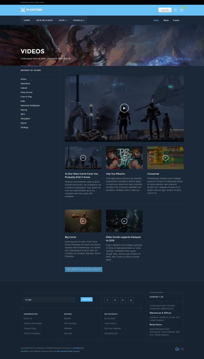 ja playstore video layout