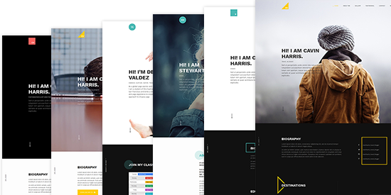 multi layout joomla template