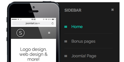 Megamenu and Off-canvas menu in the Responsive Joomla template - JA Sugite