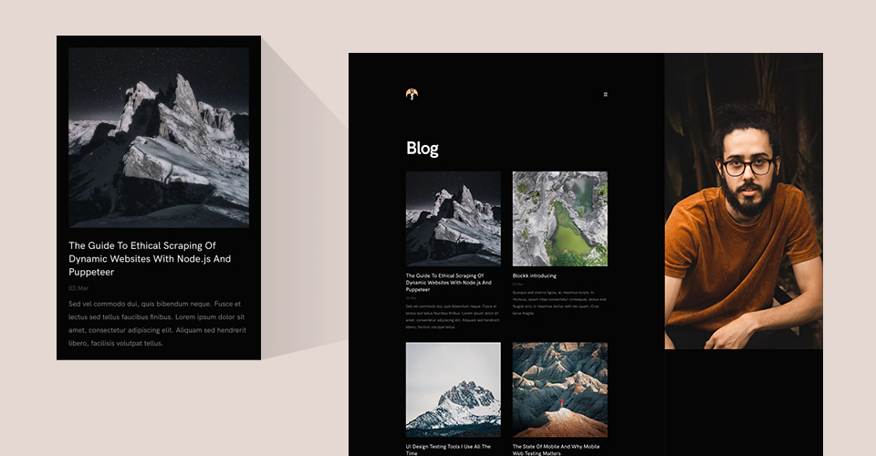 Blog list and details pages - GK resume Joomla template