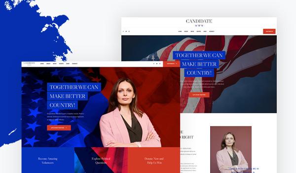 multi layouts political joomla template