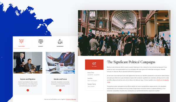 political campaigns and events joomla template